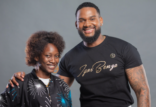 TV Presentor Igor Benza  and Cláudia Semedo, youth counsellor  for  SMS Jovem/U-Report Angola