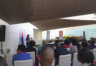Opening of the event by the UNFPA Representative in Angola, Florbela Fernandes