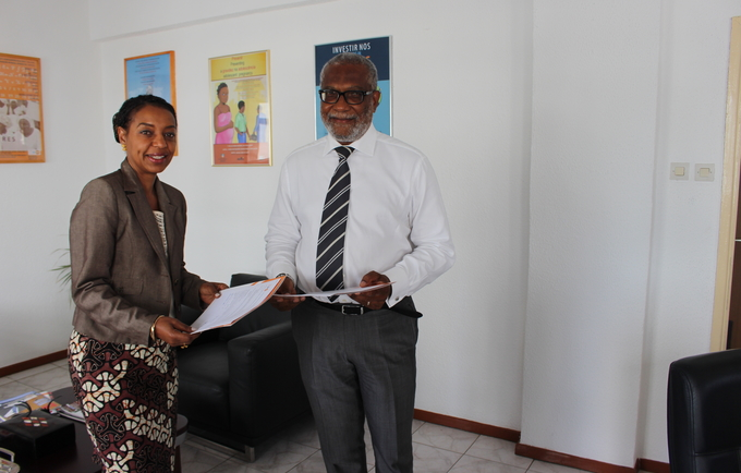 Florbela Fernandes, Representante do UNFPA  e Flávio Couto Director Nacional de Politicas da População